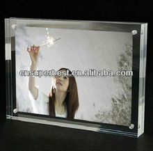 wholesale acrylic photo frame made by acrylic block with magnets