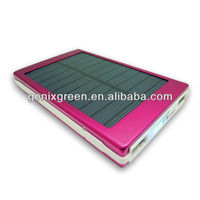 Beautiful surface and high efficiency mobile charger/7200mah solar panel power bank for smart phones