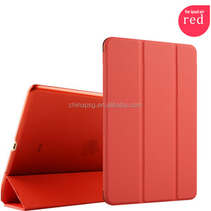 fully protective pure color pu leather case for ipad air cover for ipad 5 case