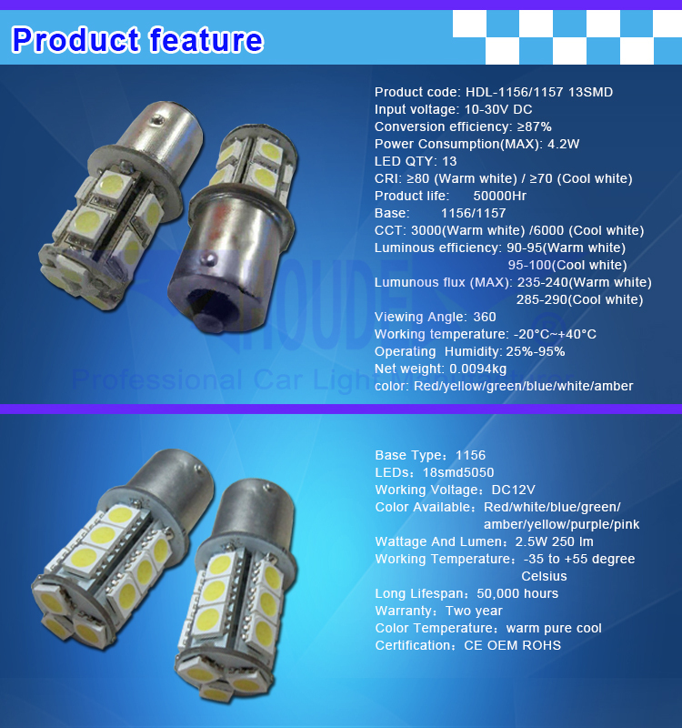 auto light 1156 led bulb 27 smd performance vw
