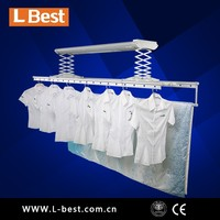 Electric aluminum arier rack with wireless remote controller and air-fan dryer