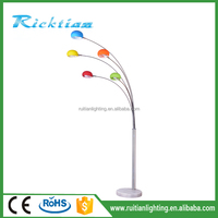 Ruitian Lighting Torchiere Floor Lamp with Adjustable Reading Side Arm Lamp
