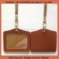 Chinese manufacturer leather id card holder for sale, custom logo id card holder
