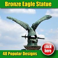 Made in China high quality marble bronze american eagle