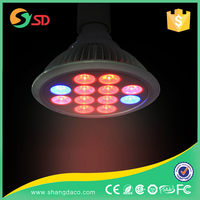 Full Spectrum E27 12W 24w 9 Red+3 Blue Indoor mini led grow lights