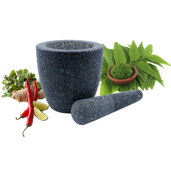 Amazan hot sale Handmade Natural mini Stone Mortar and Pestle