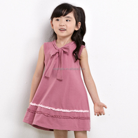 Polo Style Frock Design Children Summer School Wear Girls Sleeveless Casual Cotton Dress