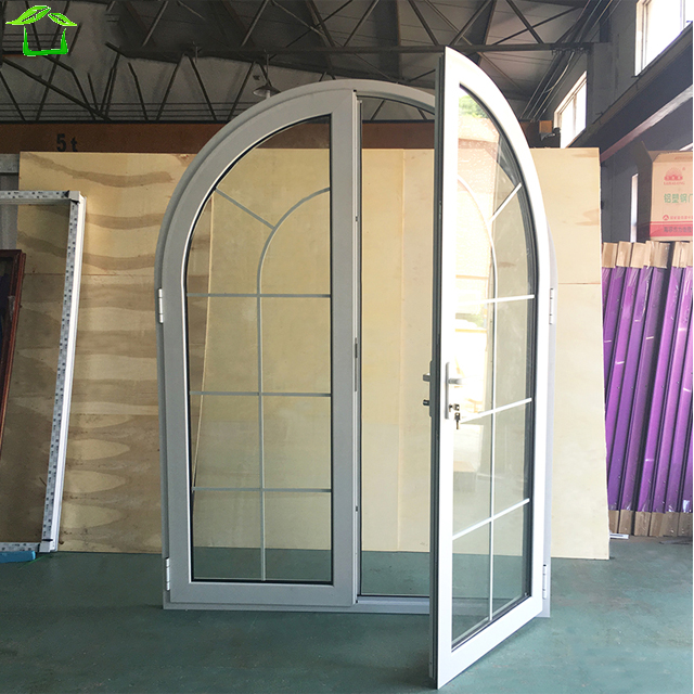glass entry door arched top aluminum interior swinging doors