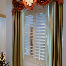 89mm louver hidden rod white real wood plantation shutters furniture