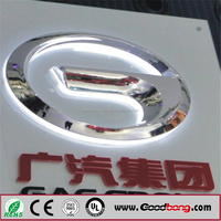 Plastic formed backlit car emblem / backlit car sign / backlit car logo