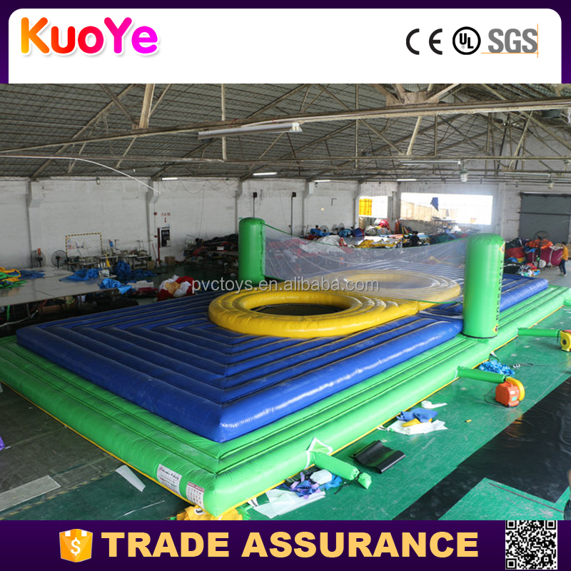 Inflatable Water Volleyball Court Inflatable human foosball giant Playground Inflatable Game Court Sport Games