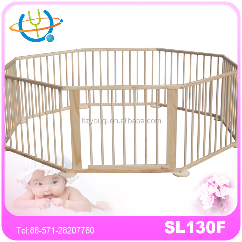 Top sale wood baby pet safety playpen fence