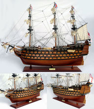 HMS VICTORY PAINTED WOODEN MODEL SHIP - WOODEN DECORATION