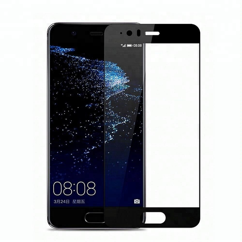 mobile phone tempered glass for huawei P10 lite 2017 9H 2.5D black full coverage glass for huawei p10 plus p9 p20 p20 lite