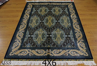 4X6Ft hand knotted handmade floral area carpet all-over design persian rug for sale