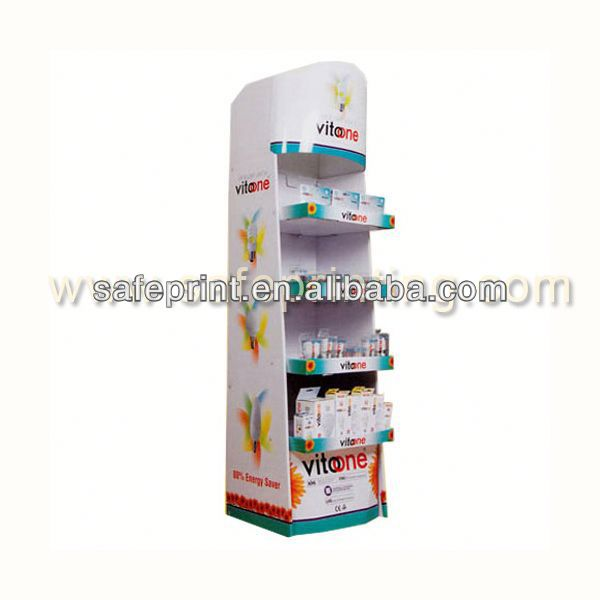 get reading floor stand front card book display mixed cells cardboard display stand for cards