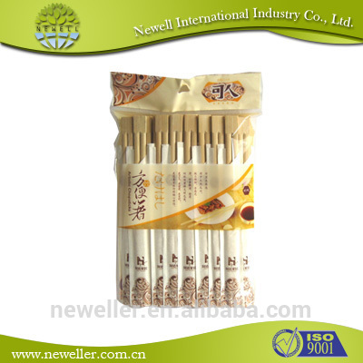 2014 Natural bamboo chopsticks factory price hot sells paper wrapped disposable bamboo chopsticks