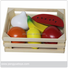 Fresh wood apple fruit toys pretend play for kids