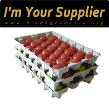 Biodegradable tray disposable container molded pulp fruit tray