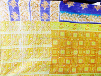New Arrival 2015 100% cotton authentic old vintage recycled sari quilt/throw/blanket