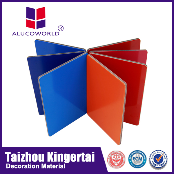 2015 Alucoworld construction materials price list of acp bond aluminum interior&exterior wall paneling