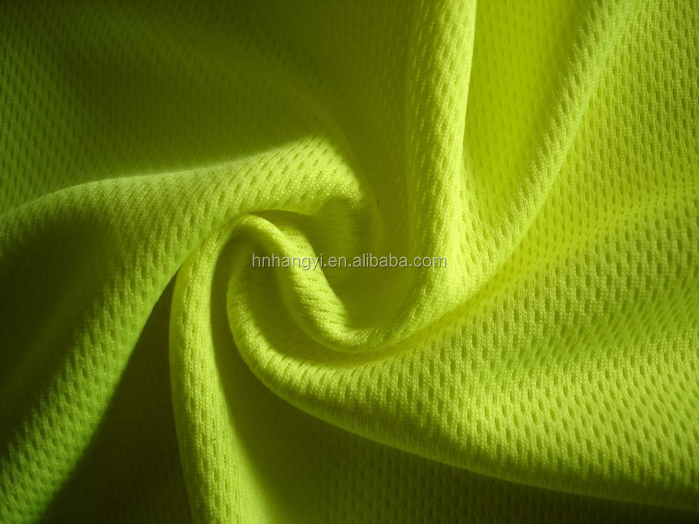 Hot selling 100% polyester knit birdeye fabric with wicking for sportswear
