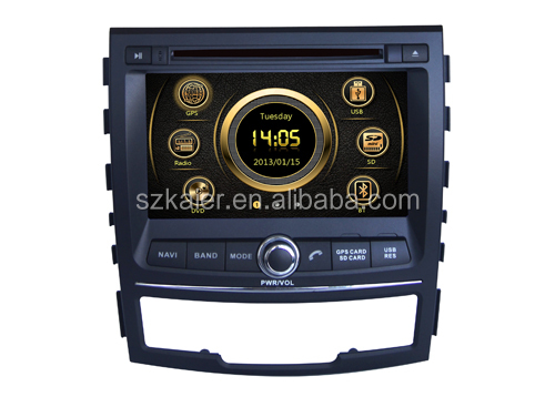 Hot sale factory price car navigation system for Ssangyong Korando with GPS/Bluetooth/Radio/SWC/Virtual 6CD/3G internet/ATV/