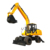 13.5 ton HW135 wheel excavator with 0.6m3 for sale