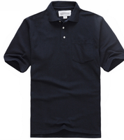 custom design with your own logo High Quality Pima Cotton Men black Polo Shirt