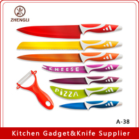 A-38 Royal Kitchen Knife and Ceramic Peeler Set of 8 Pieces With Color Box