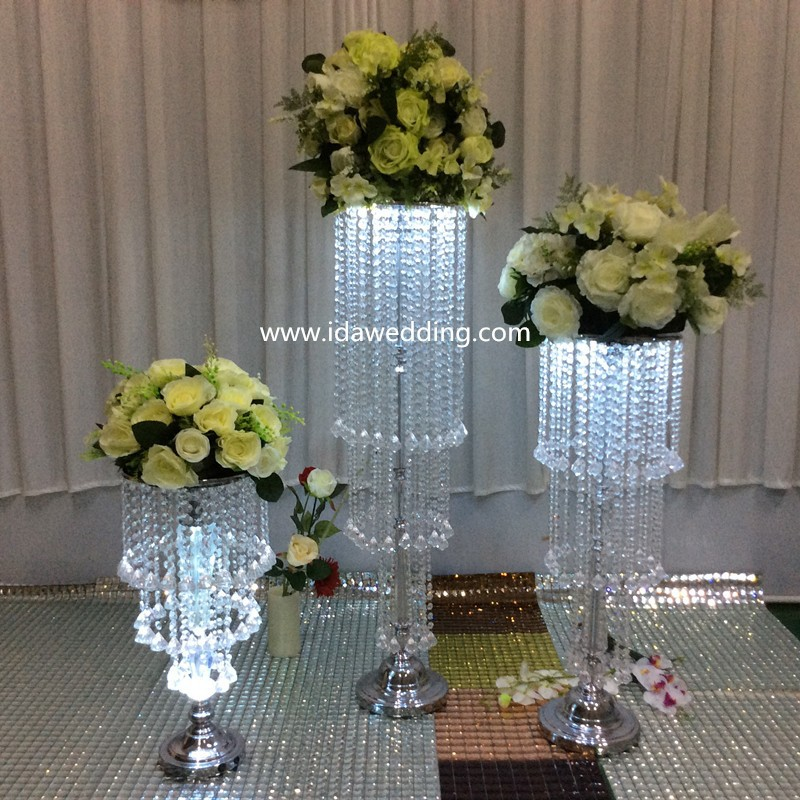 Ida Wedding Decoration Flower Stand Wedding Crystal Pillars Centerpieces Floo