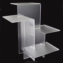 factory custom 4 Tier Riser assemble acrylic display stand