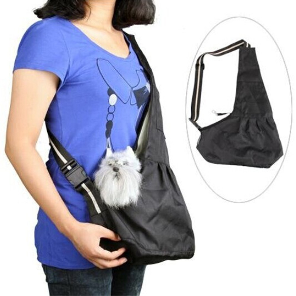 Dog Cat Pet Sling Carrier Bag Outdoor Slings Carriers Reversible Shoulder Bag