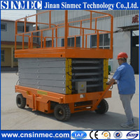 Hot sale auxiliary walking scissor lift for sale