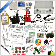 tattoo Complete Tattoo Kit Machine Guns Power Supply 40 Inks Grip Carring Case
