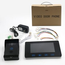 Hot Selling Tampered Glass Night vision 7 inch video door phone,video intercom