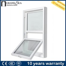 Western style PVC top hung sliding ventilation glass window