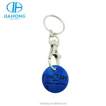Cheap blue shinny personalized keychain