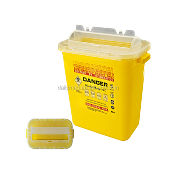 Dailymag Large FDA Approved 14L Red Yellow Medical Waste Disposal Sharps Container For Hospital