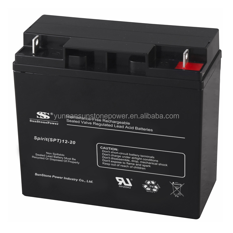 agm sealed lead acid 12v 20ah batteries electric scooter