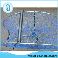 Custom durable metal frame folding round nets trap for catching shrimp