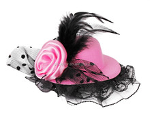 girls party headwear mini hat fascinators with polyester flower lace and feather