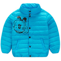 2016 Wholesale high quality windproof cute cartoon dog printed kids warm jackets winter for 4-8 years boy B514