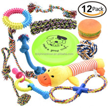 Free Sample Cheap 12 Squeaky Dog Toys Pack Gift Set Custom LOGO Durable Chew Rope Pet Toy