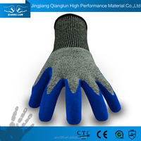 QL new design glass handling nitrile 13 g anti puncture glove