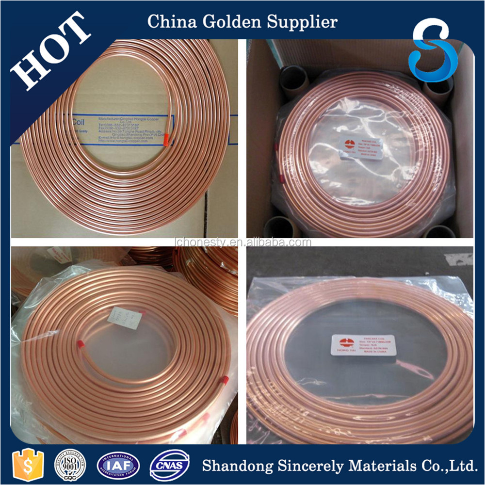 Factory direct sale High Quality Seamless C12200 Air Conditioner R410a Copper Pipe Refrigerator Copper tube