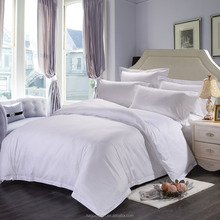 High quality hotel 100% cotton white Satin stripe bedding comforter sets luxury bedding sets