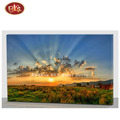 Beautiful Forest Scenery Sunrise/Sunset Wooden LED  Canvas Painting For Bedroom Decoration