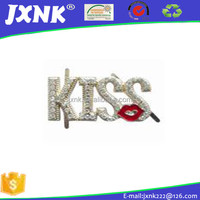 diamond kiss shaped buckles for shoes