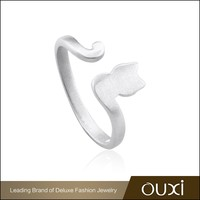 OUXI 2015 cat charmed casual Silver simply new fashion silver ring for women and teenager Y70059